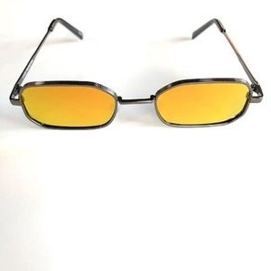 Accessories - AMBER Rectangle Slim Mirrored Lens Sunglasses